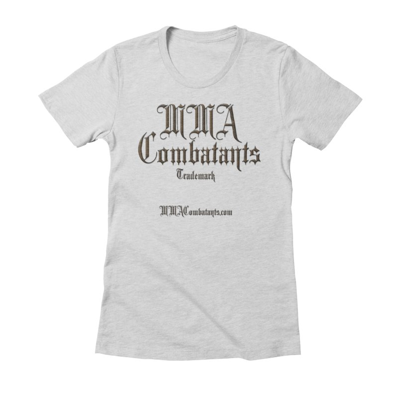 MMA Combatants Trademark - MMACombatants.com Women's Fitted T-Shirt by Logo Gear & Logo Wear