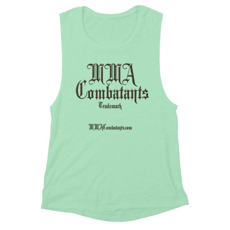 MMA Combatants Trademark - MMACombatants.com Women's Muscle Tank by Logo Gear & Logo Wear