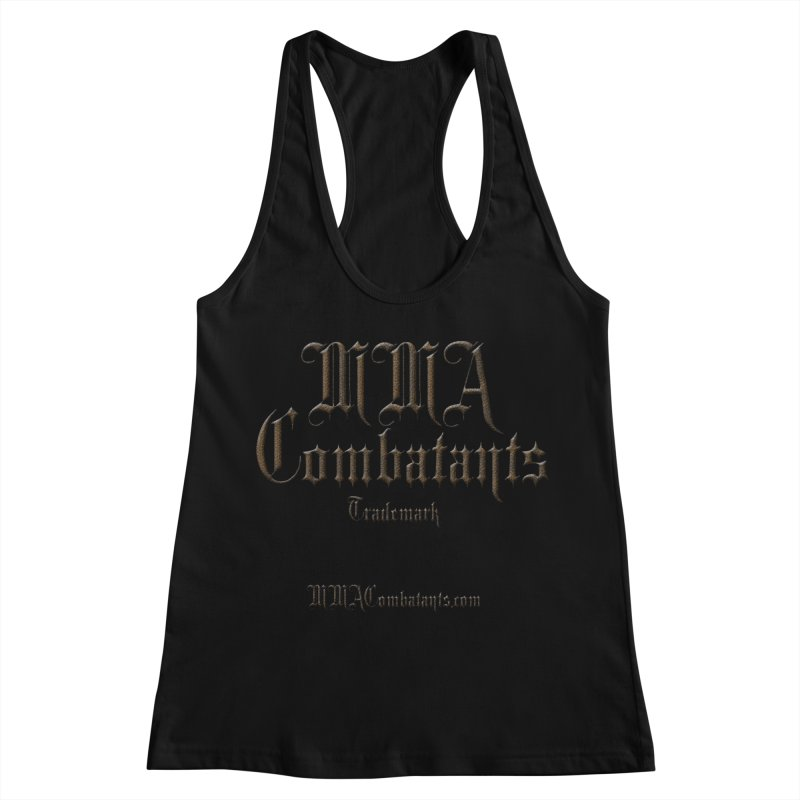 MMA Combatants Trademark - MMACombatants.com Women's Racerback Tank by Logo Gear & Logo Wear