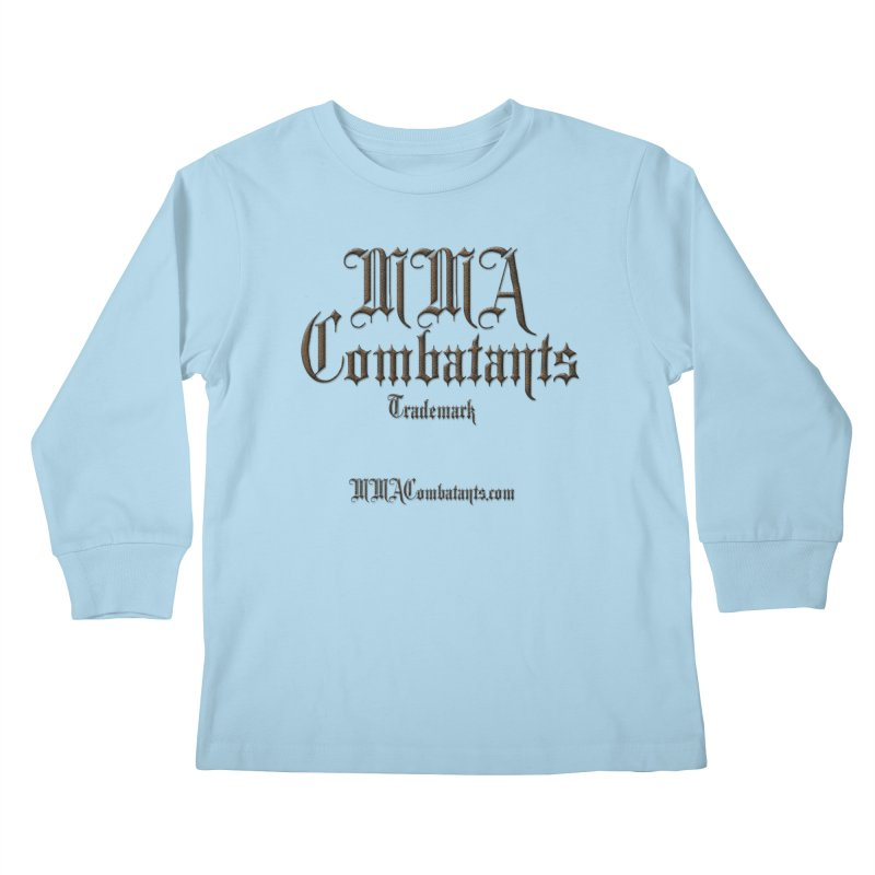 MMA Combatants Trademark - MMACombatants.com Kids Longsleeve T-Shirt by Logo Gear & Logo Wear