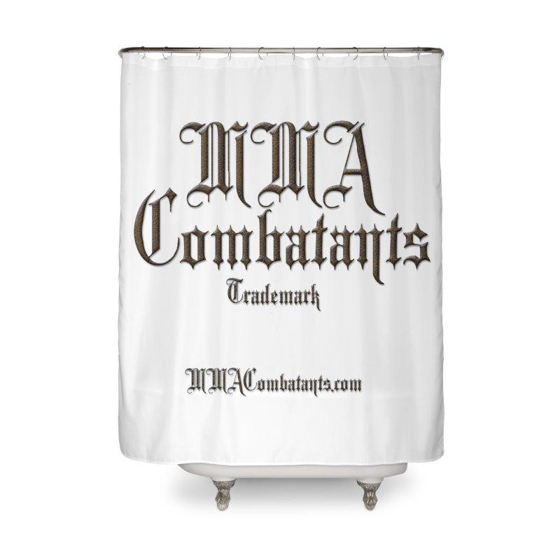 MMA Combatants Trademark - MMACombatants.com Home Shower Curtain by Logo Gear & Logo Wear