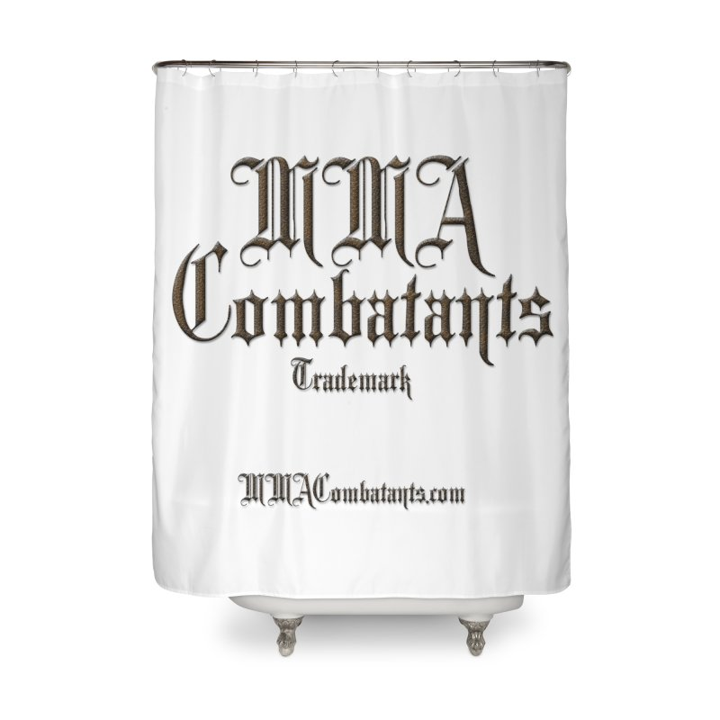 MMA Combatants Trademark - MMACombatants.com Home Shower Curtain by Logo Gear & Logo Wear