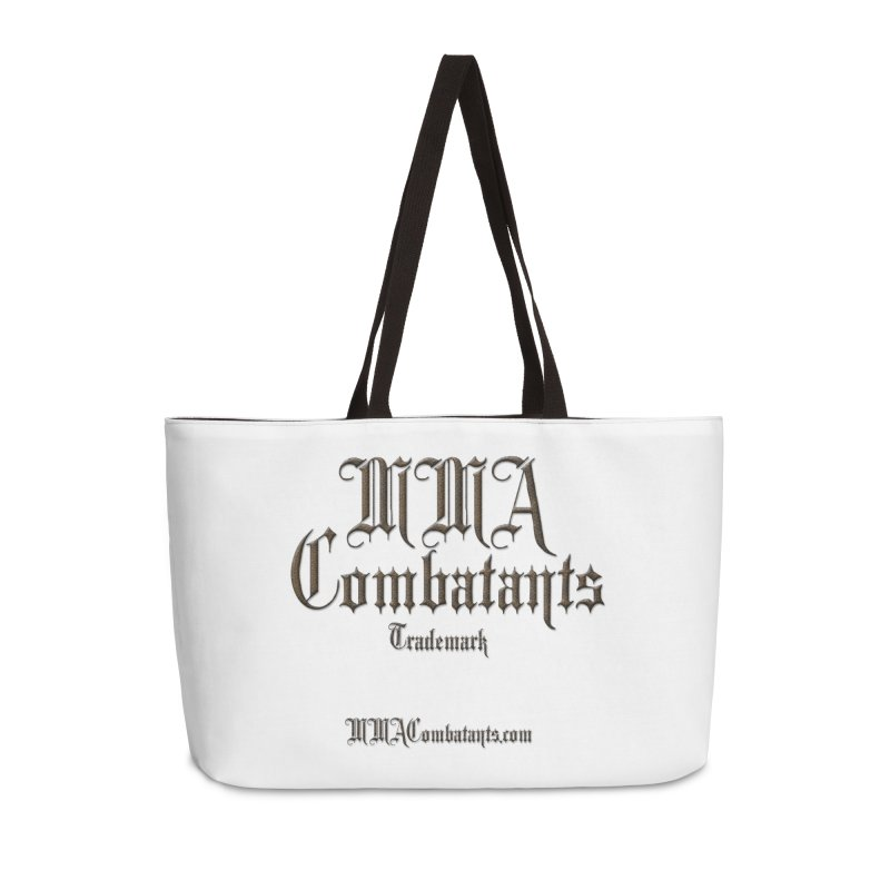 MMA Combatants Trademark - MMACombatants.com Accessories Weekender Bag Bag by Logo Gear & Logo Wear