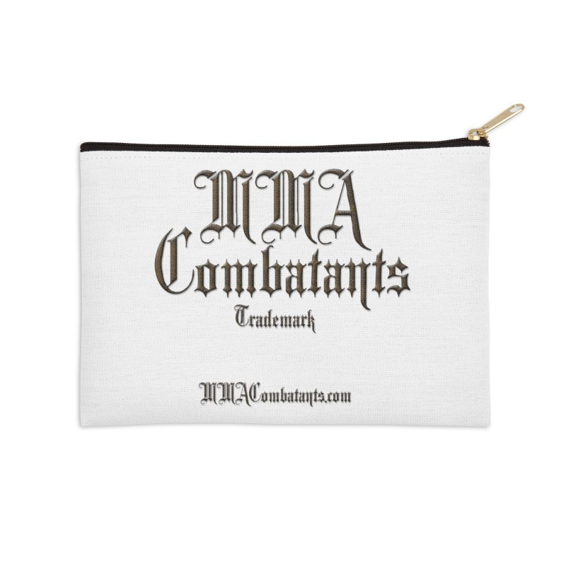 MMA Combatants Trademark - MMACombatants.com Accessories Zip Pouch by Logo Gear & Logo Wear