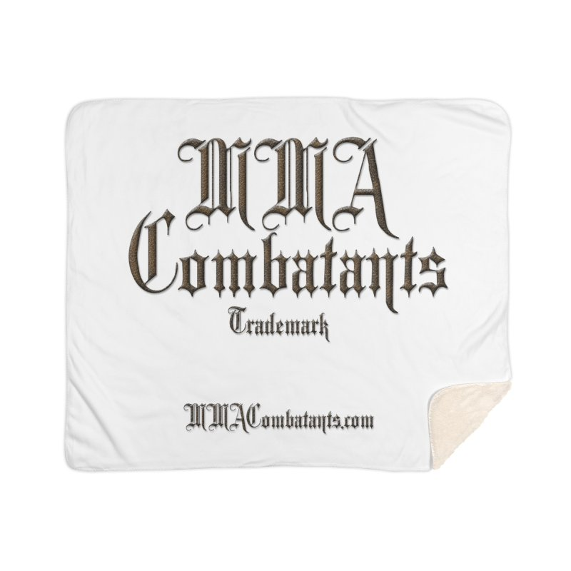 MMA Combatants Trademark - MMACombatants.com Home Sherpa Blanket Blanket by Logo Gear & Logo Wear