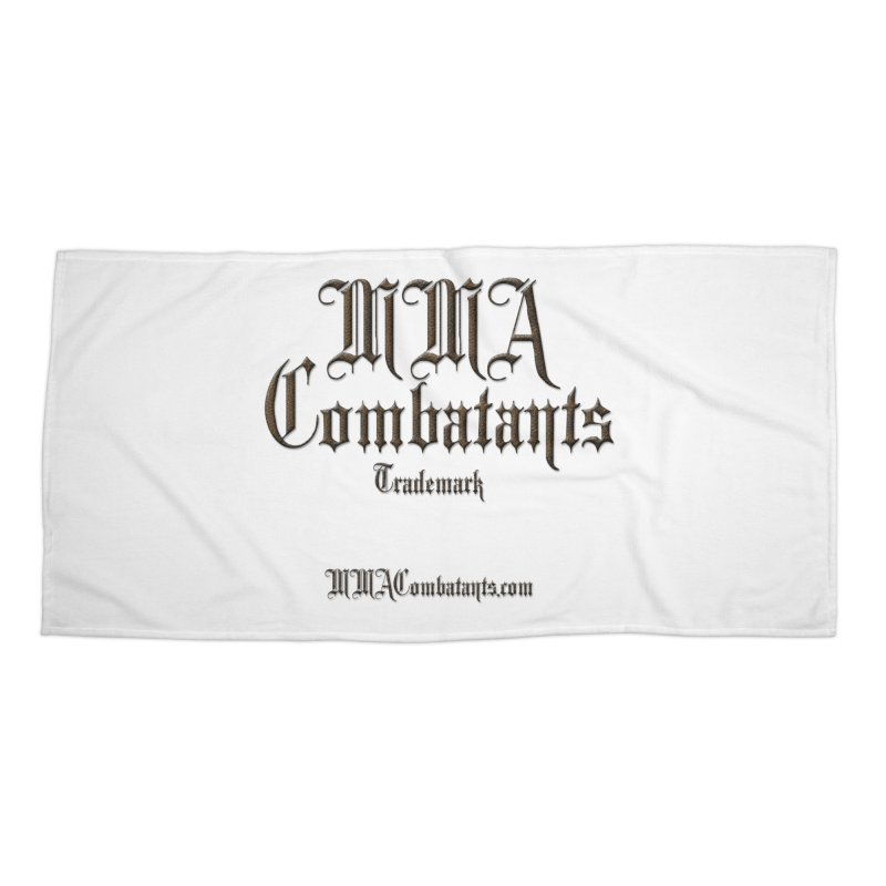 MMA Combatants Trademark - MMACombatants.com Accessories Beach Towel by Logo Gear & Logo Wear