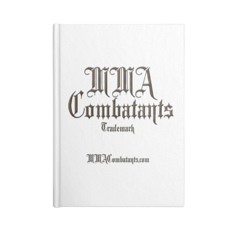 MMA Combatants Trademark - MMACombatants.com Accessories Lined Journal Notebook by Logo Gear & Logo Wear