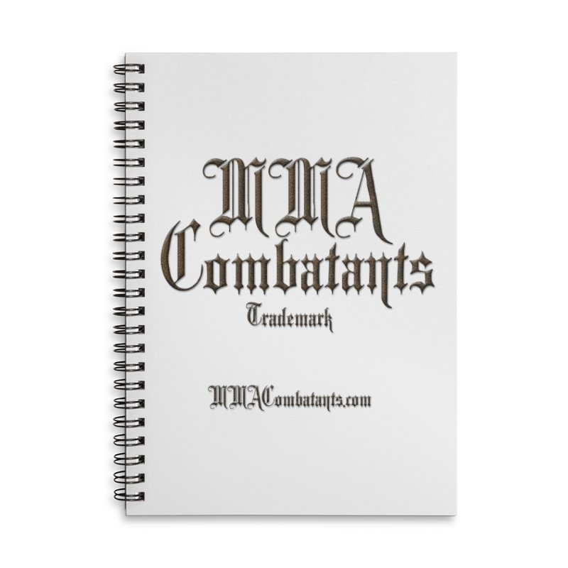 MMA Combatants Trademark - MMACombatants.com Accessories Lined Spiral Notebook by Logo Gear & Logo Wear