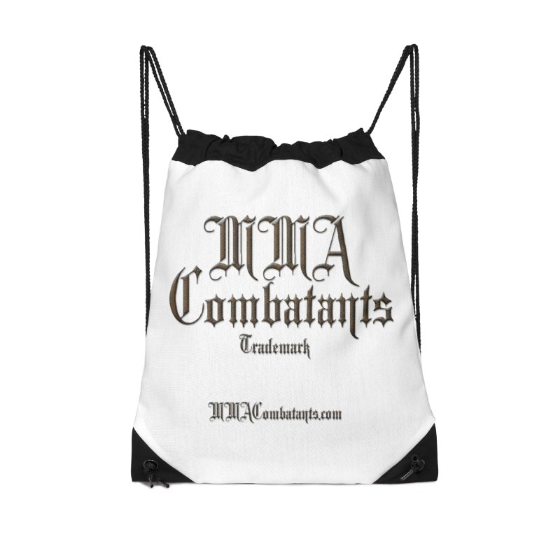 MMA Combatants Trademark - MMACombatants.com Accessories Drawstring Bag Bag by Logo Gear & Logo Wear