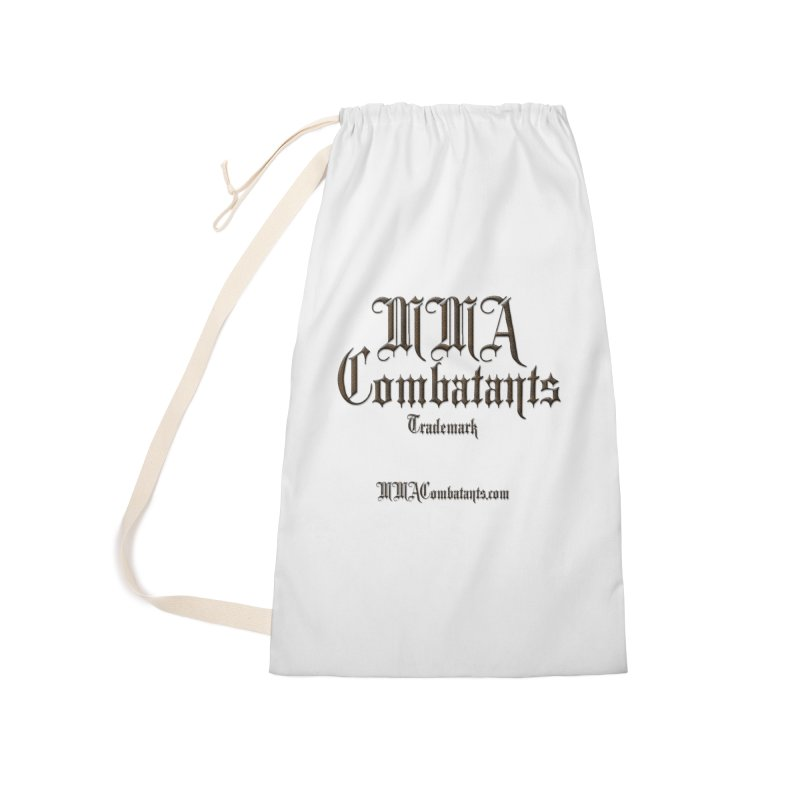 MMA Combatants Trademark - MMACombatants.com Accessories Laundry Bag Bag by Logo Gear & Logo Wear