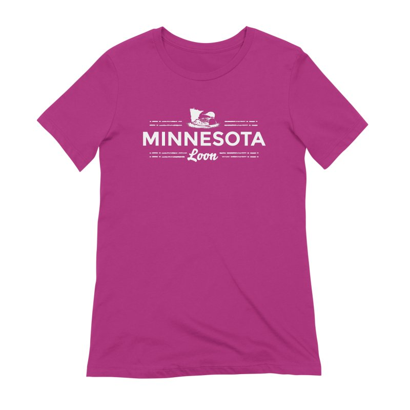 MN Loon (white) Women's Extra Soft T-Shirt by Logo Mo Doodles, Drawings, and Designs