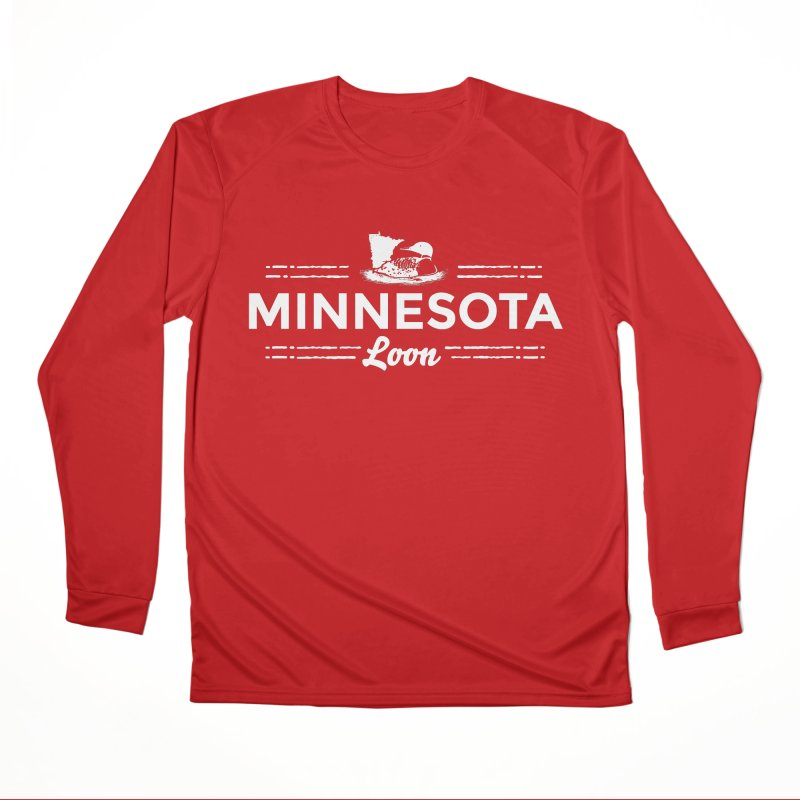MN Loon (white) Men's Performance Longsleeve T-Shirt by Logo Mo Doodles, Drawings, and Designs