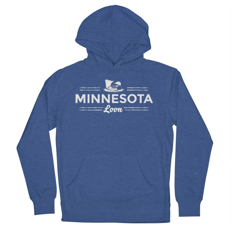 MN Loon (white) Women's French Terry Pullover Hoody by Logo Mo Doodles, Drawings, and Designs