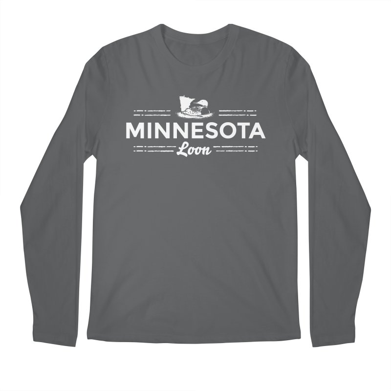 MN Loon (white) Men's Regular Longsleeve T-Shirt by Logo Mo Doodles, Drawings, and Designs