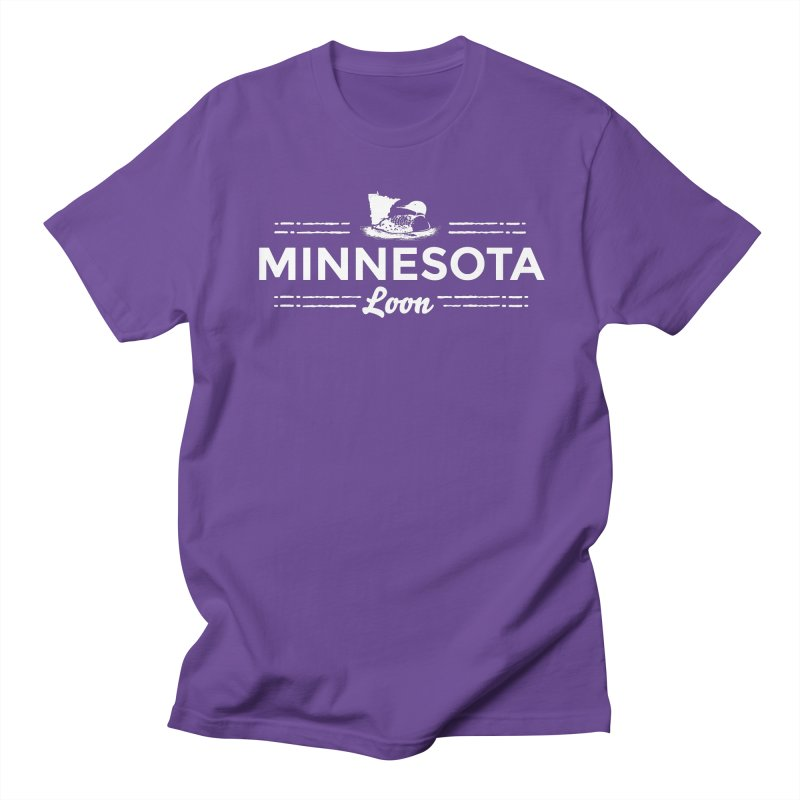 MN Loon (white) Women's Regular Unisex T-Shirt by Logo Mo Doodles, Drawings, and Designs