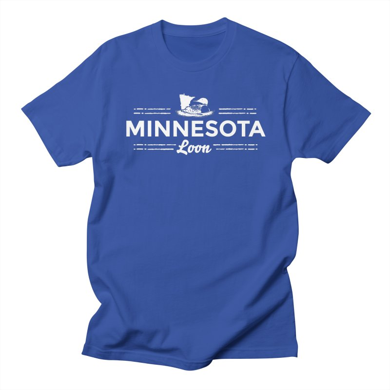MN Loon (white) Men's Regular T-Shirt by Logo Mo Doodles, Drawings, and Designs