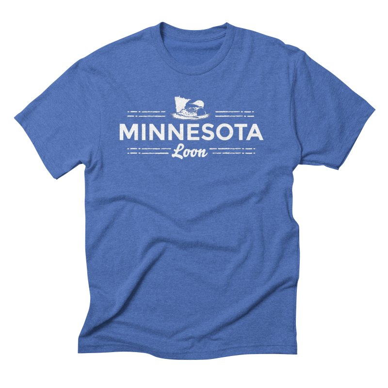 MN Loon (white) Men's Triblend T-Shirt by Logo Mo Doodles, Drawings, and Designs