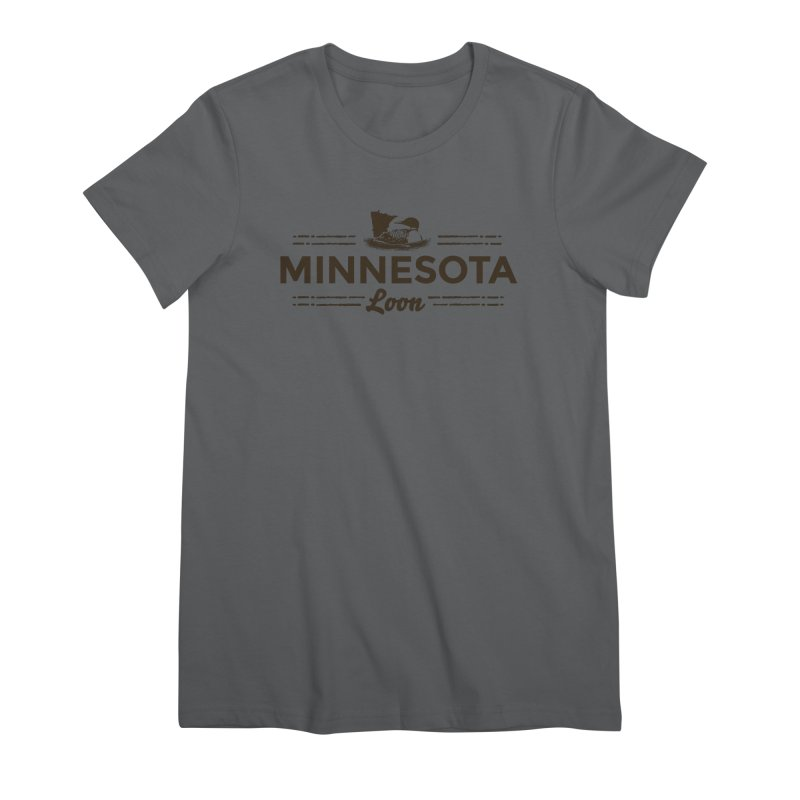MN Loon (dark) Women's Premium T-Shirt by Logo Mo Doodles, Drawings, and Designs