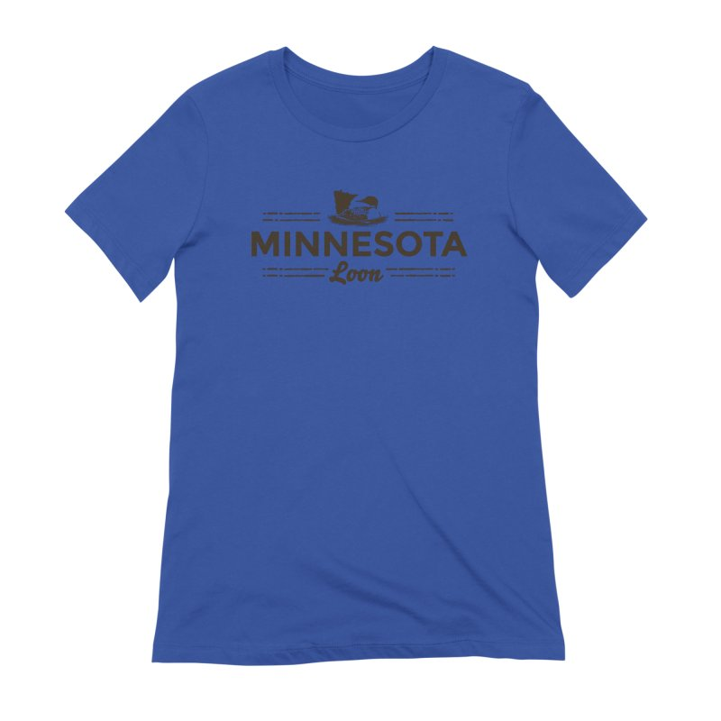 MN Loon (dark) Women's Extra Soft T-Shirt by Logo Mo Doodles, Drawings, and Designs