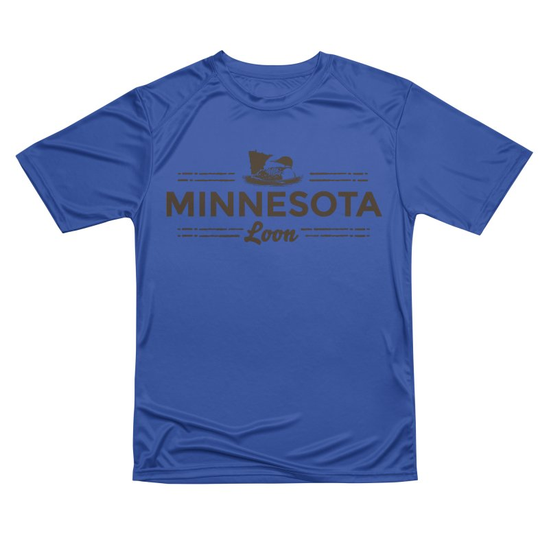 MN Loon (dark) Men's Performance T-Shirt by Logo Mo Doodles, Drawings, and Designs