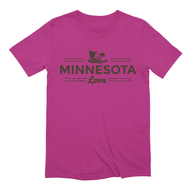 MN Loon (dark) Men's Extra Soft T-Shirt by Logo Mo Doodles, Drawings, and Designs