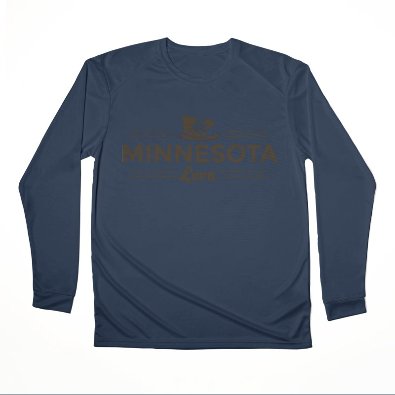 MN Loon (dark) Men's Performance Longsleeve T-Shirt by Logo Mo Doodles, Drawings, and Designs