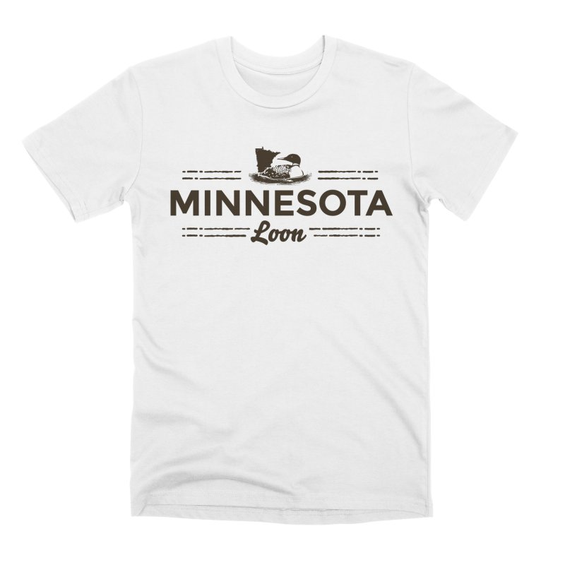 MN Loon (dark) Men's Premium T-Shirt by Logo Mo Doodles, Drawings, and Designs