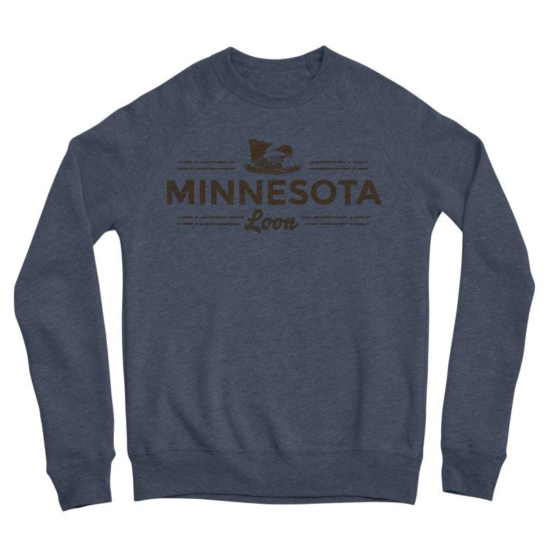 MN Loon (dark) Men's Sponge Fleece Sweatshirt by Logo Mo Doodles, Drawings, and Designs