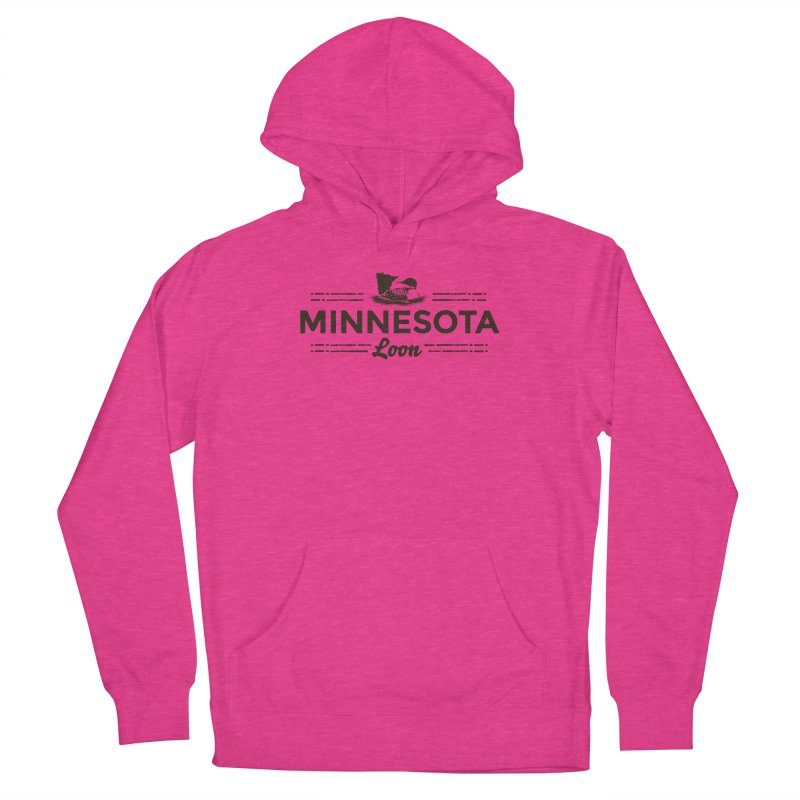 MN Loon (dark) Women's French Terry Pullover Hoody by Logo Mo Doodles, Drawings, and Designs