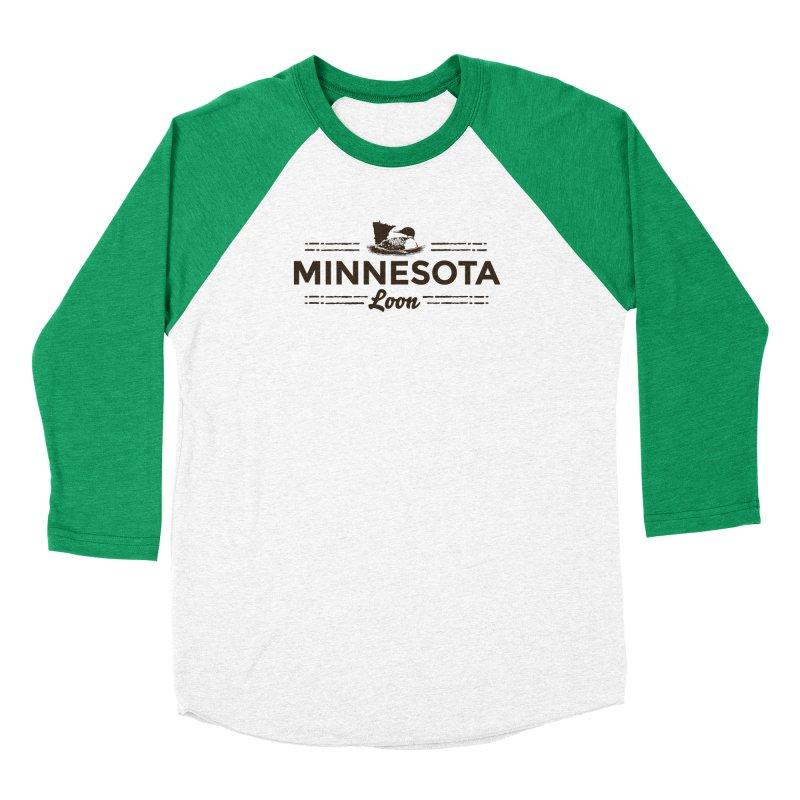 MN Loon (dark) Men's Baseball Triblend Longsleeve T-Shirt by Logo Mo Doodles, Drawings, and Designs