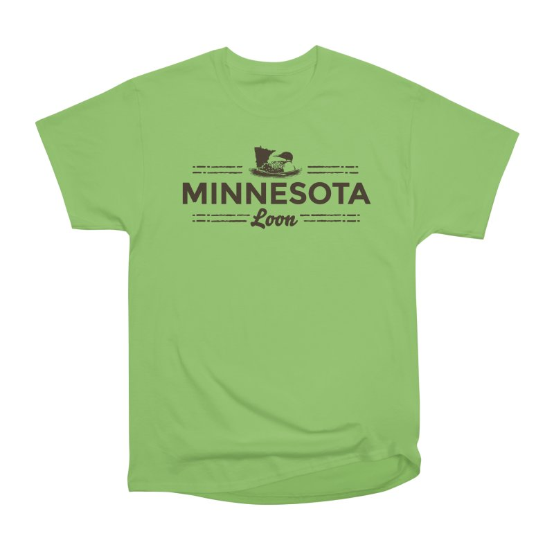 MN Loon (dark) Men's Heavyweight T-Shirt by Logo Mo Doodles, Drawings, and Designs