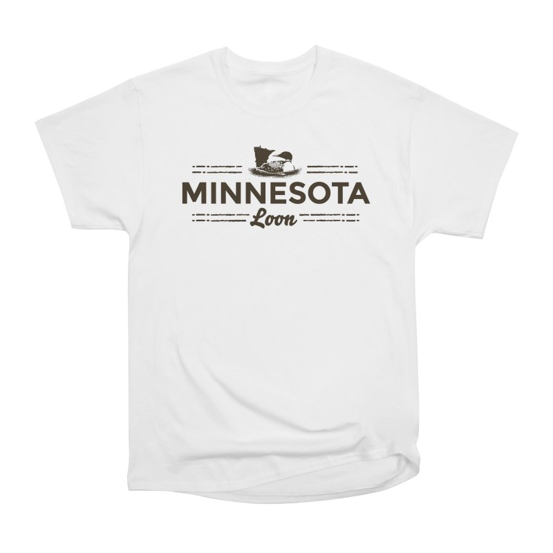 MN Loon (dark) Women's Heavyweight Unisex T-Shirt by Logo Mo Doodles, Drawings, and Designs