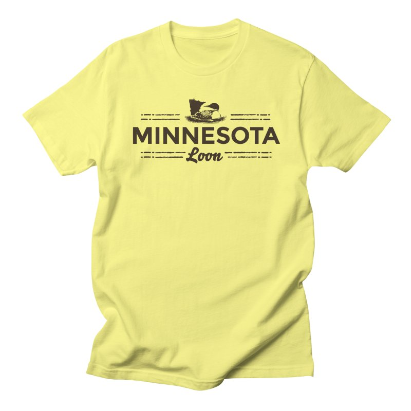 MN Loon (dark) Men's Regular T-Shirt by Logo Mo Doodles, Drawings, and Designs
