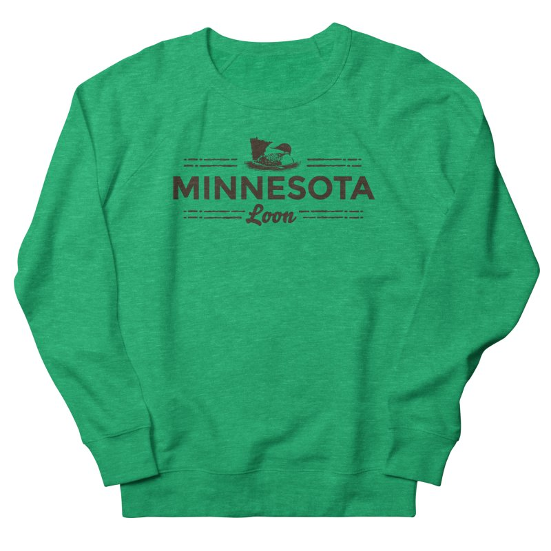 MN Loon (dark) Men's French Terry Sweatshirt by Logo Mo Doodles, Drawings, and Designs