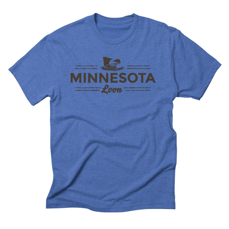 MN Loon (dark) Men's Triblend T-Shirt by Logo Mo Doodles, Drawings, and Designs