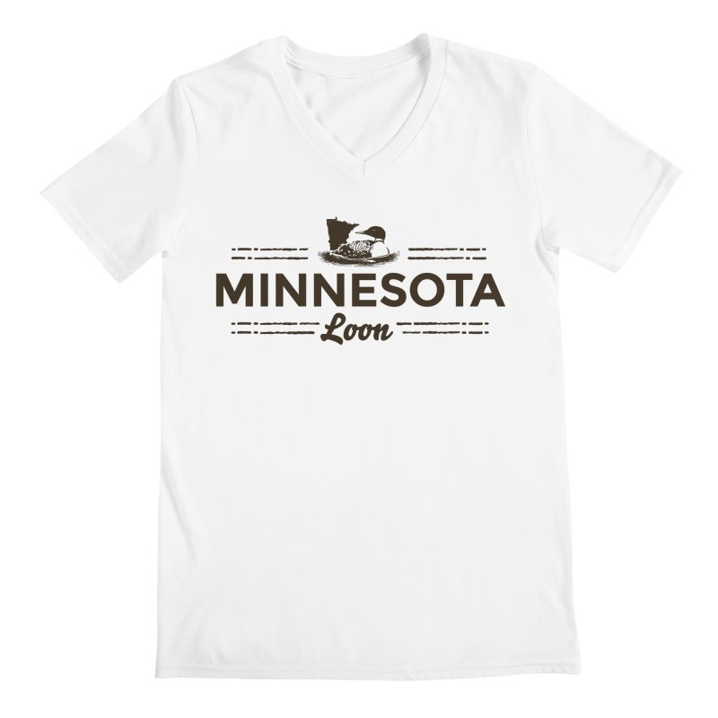 MN Loon (dark) Men's Regular V-Neck by Logo Mo Doodles, Drawings, and Designs