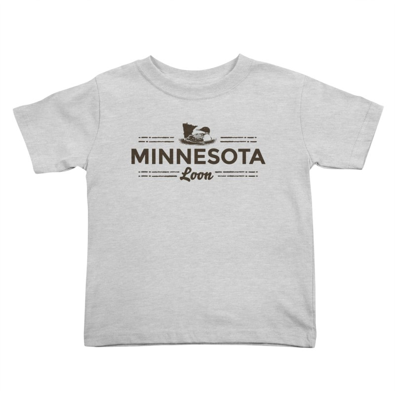 MN Loon (dark) Kids Toddler T-Shirt by Logo Mo Doodles, Drawings, and Designs