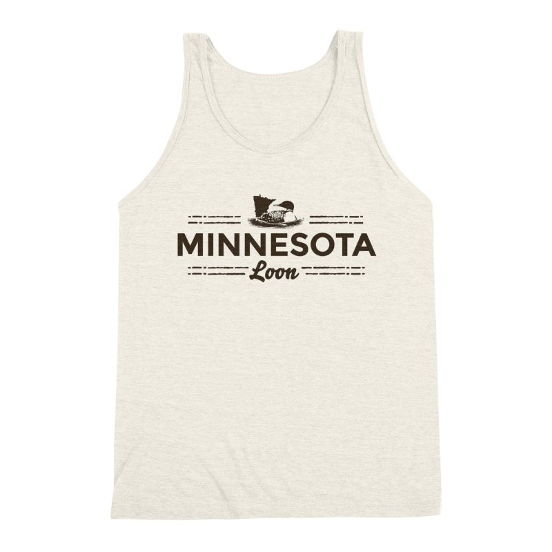 MN Loon (dark) Men's Triblend Tank by Logo Mo Doodles, Drawings, and Designs