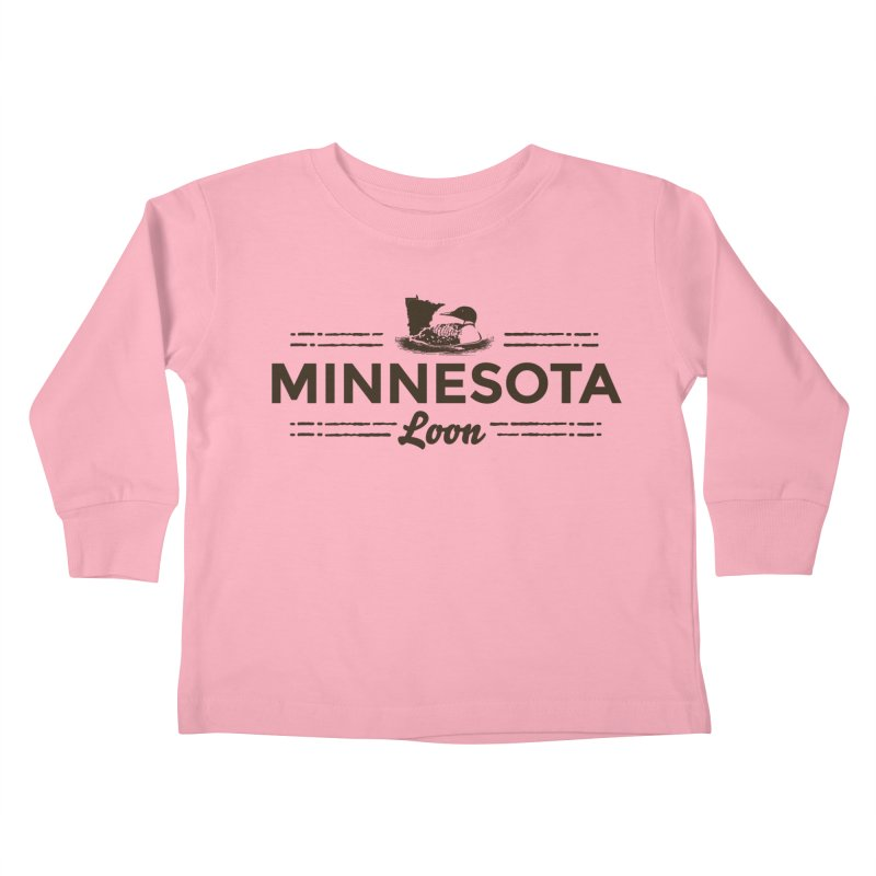 MN Loon (dark) Kids Toddler Longsleeve T-Shirt by Logo Mo Doodles, Drawings, and Designs