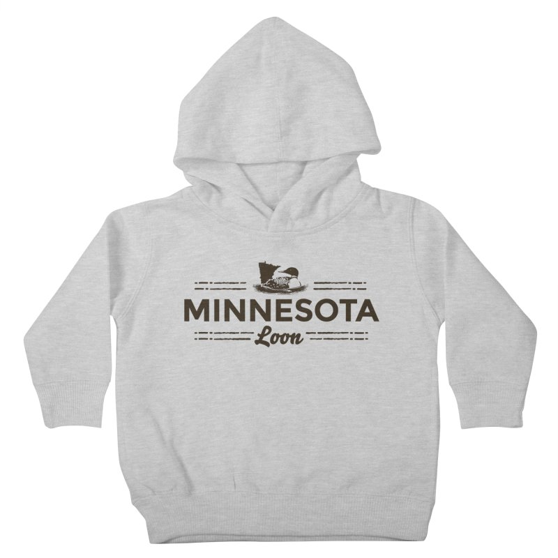 MN Loon (dark) Kids Toddler Pullover Hoody by Logo Mo Doodles, Drawings, and Designs