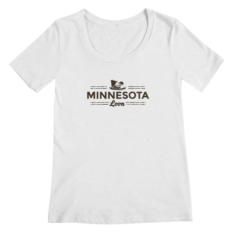 MN Loon (dark) Women's Regular Scoop Neck by Logo Mo Doodles, Drawings, and Designs