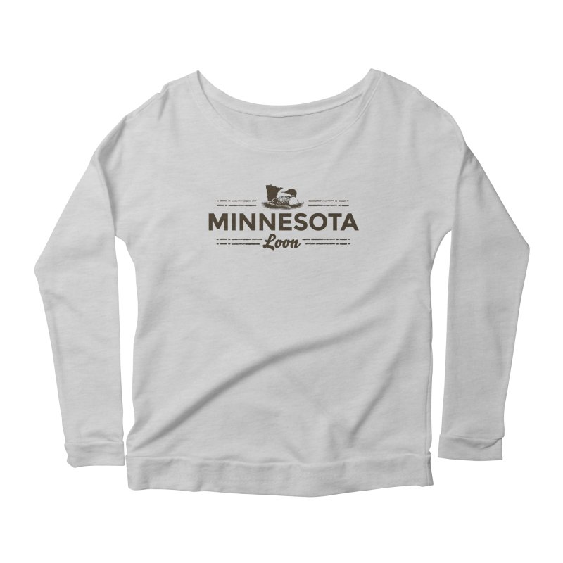 MN Loon (dark) Women's Scoop Neck Longsleeve T-Shirt by Logo Mo Doodles, Drawings, and Designs