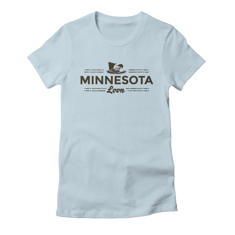MN Loon (dark) Women's Fitted T-Shirt by Logo Mo Doodles, Drawings, and Designs