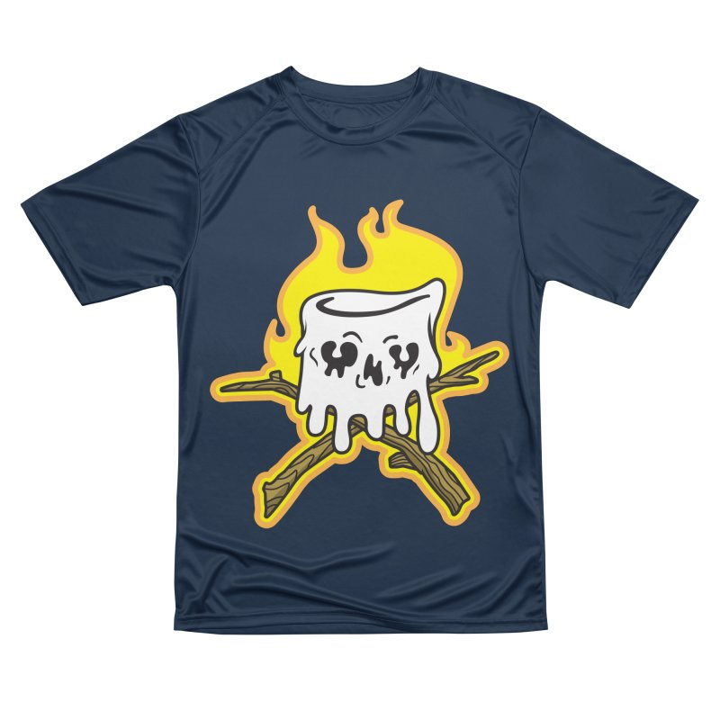 S'more Skull and Cross Sticks Large Front Women's Performance Unisex T-Shirt by Logo Mo Doodles, Drawings, and Designs