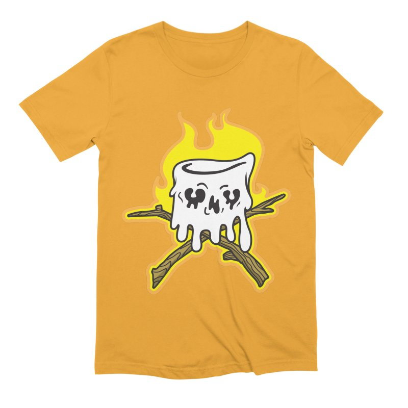 S'more Skull and Cross Sticks Large Front Men's Extra Soft T-Shirt by Logo Mo Doodles, Drawings, and Designs