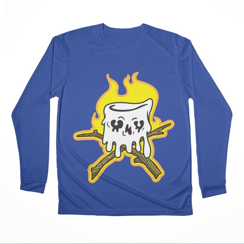 S'more Skull and Cross Sticks Large Front Men's Performance Longsleeve T-Shirt by Logo Mo Doodles, Drawings, and Designs