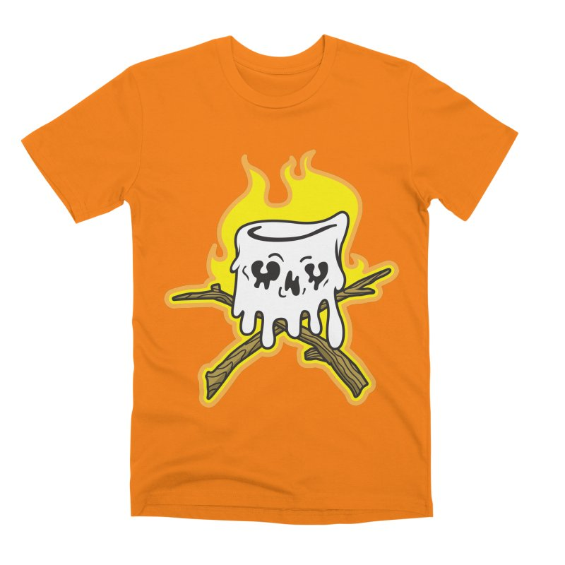 S'more Skull and Cross Sticks Large Front Men's Premium T-Shirt by Logo Mo Doodles, Drawings, and Designs