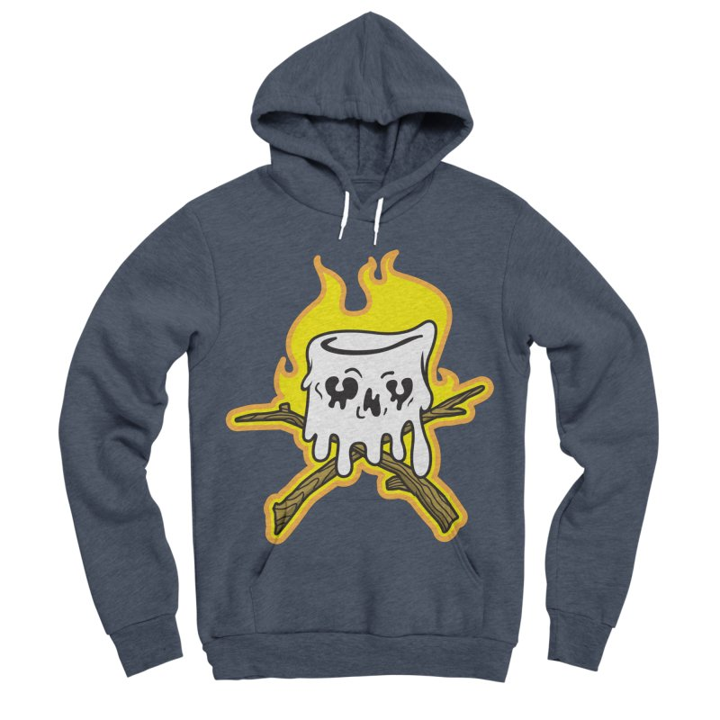 S'more Skull and Cross Sticks Large Front Men's Sponge Fleece Pullover Hoody by Logo Mo Doodles, Drawings, and Designs
