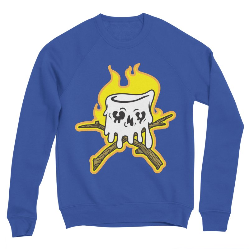 S'more Skull and Cross Sticks Large Front Men's Sponge Fleece Sweatshirt by Logo Mo Doodles, Drawings, and Designs
