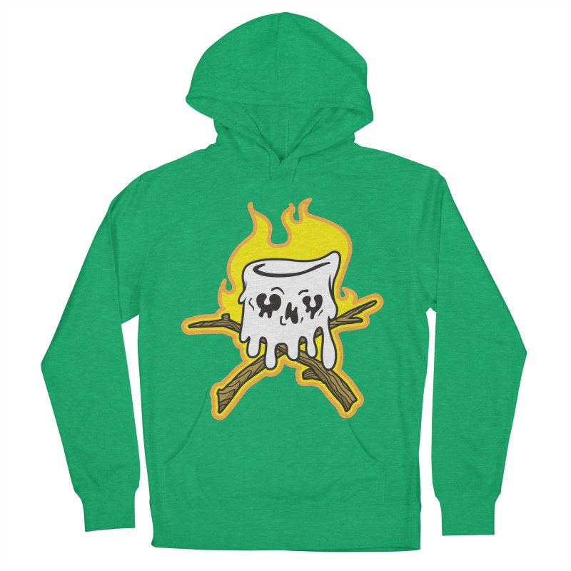 S'more Skull and Cross Sticks Large Front Women's French Terry Pullover Hoody by Logo Mo Doodles, Drawings, and Designs